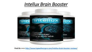Intellux Brain Booster Reviews
