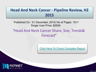 Head And Neck Cancer Market Forecast & Future Industry Trends
