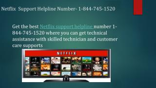 Netflix Forgot Password 1-844-745-1520 Tech Support Number