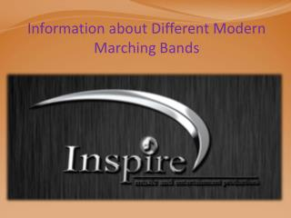 Information about Different Modern Marching Bands