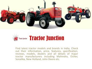 Latest Tractor Models in India