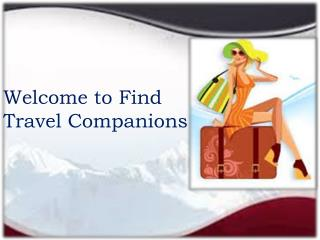 Welcome to Find Travel Companions