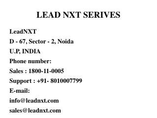 Lead Management Software Service India