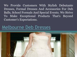 Second Hand Deb Dresses Melbourne