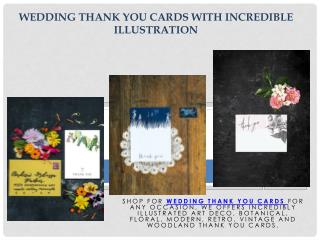 Wedding Thank You Cards with Incredible Illustration