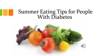 Summer Eating Tips for People With Diabetes