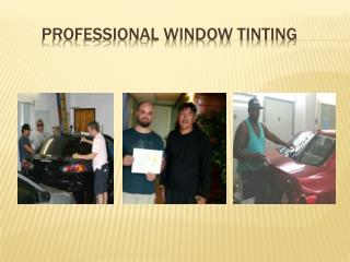 Professional Window Tinting