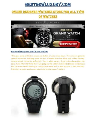 Bestnewluxury Brand Watches Add Glamour To Your Outfits