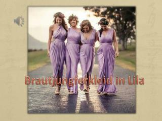 Lila Brautjungfernkleider Online-PERSUNKLEID