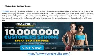 Crazy Bulk Effective 100% Legal Steroids