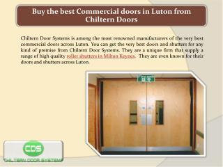 Buy the best Commercial doors in Luton from Chiltern Doors