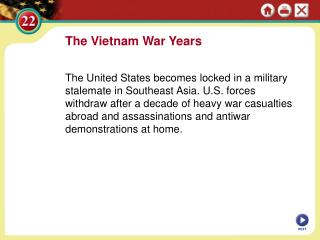 The Vietnam War Years