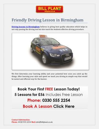 Driving Lessons in Birmingham