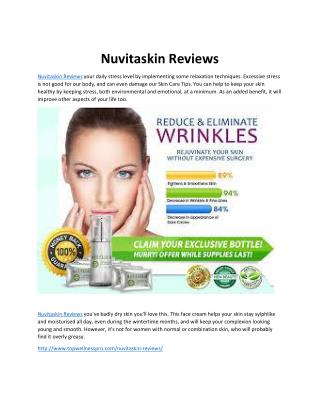 Nuvitaskin Reviews