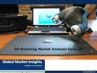 3D scanning market size to exceed USD 6.05 billion by 2022.