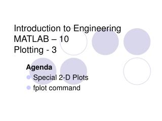 Introduction to Engineering MATLAB – 10 Plotting - 3