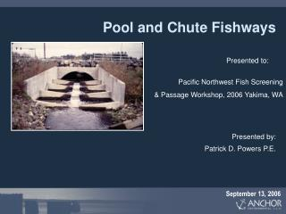 Pool and Chute Fishways