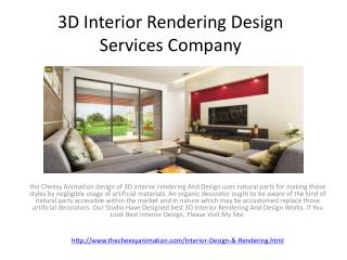 3D Interior Rendering Design Services Company