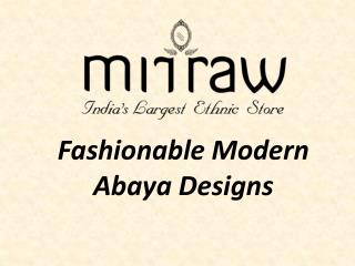 Fashionable Collection of Designer Abayas @ Mirraw