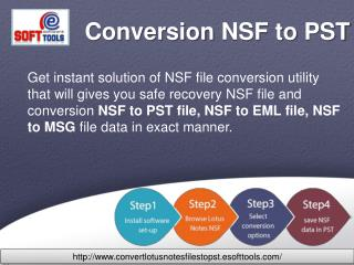 How to Convert NSF to PST
