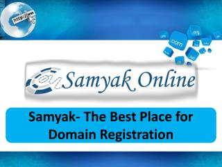 Samyak- The Best Place for Domain Registration