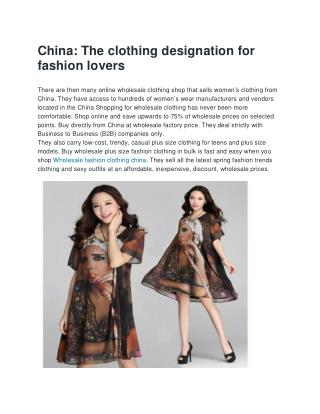 The clothing desination for fashion lovers