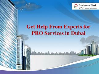 Get Help From Experts for PRO Services in Dubai