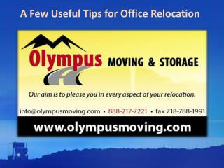 A Few Useful Tips for Office Relocation