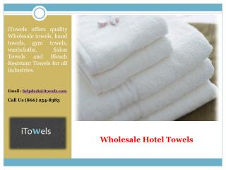 Wholesale Hotel Towels New York