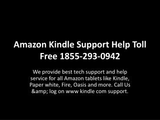 Amazon Kindle Support Help Toll Free 1855-293-0942