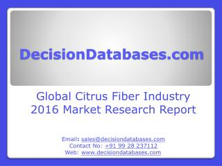 Citrus Fiber Consumption Market Report - Global Industry Analysis