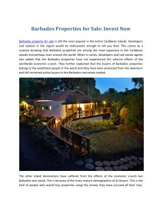 Barbados Real Estate - Barbados Properties for Sale