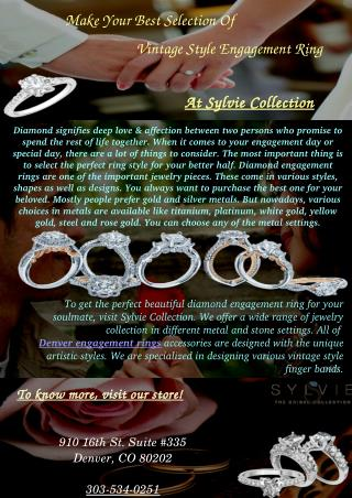Shop Denver Engagement Rings