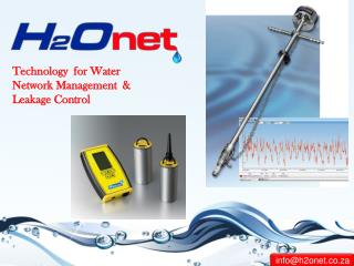 Leak detection equipment, Water flow Meter, Pressure Logger Supplier in South Africa - H2onet