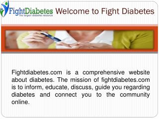 Know More about Diabetes