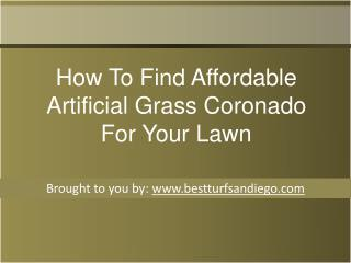 How To Find Affordable Artificial Grass Coronado For Your Lawn