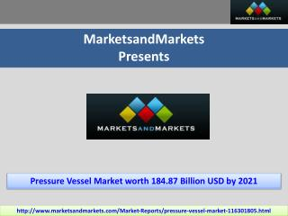 Pressure Vessel Market by End-User Industry,Type, & Material - 2021