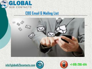 CBO Email & Mailing List