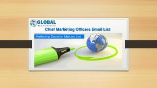 Chief Marketing Officers Email List
