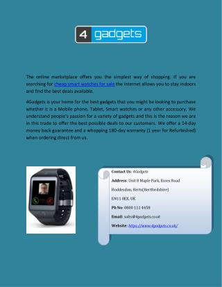 Find Cheap Smart Watches for Sale
