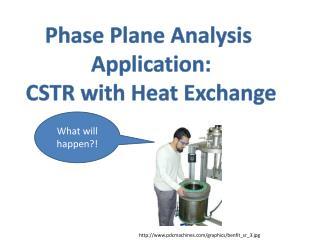 Phase Plane Analysis Application: CSTR with Heat Exchange