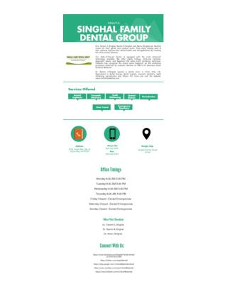 About - Singhal Family Dental Group