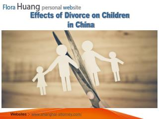 Effects of Divorce on Children in China