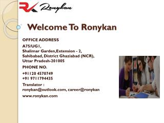 ranslation Agency in Delhi - Ronykan.com