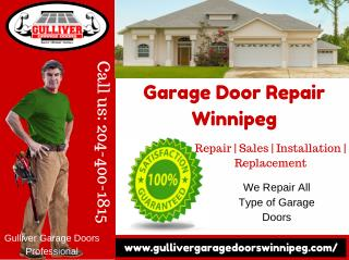 Garage Door Repair & Installation Services Winnipeg