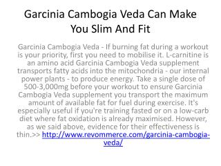Garcinia Cambogia Veda Is The Best Weight Loss Supplement