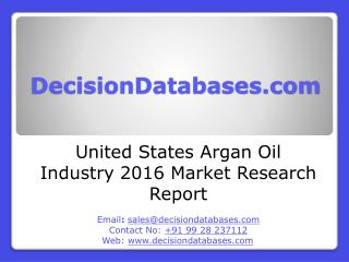 United States Argan oil Market 2016-2021
