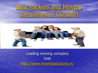 Best packers and movers company in gurgaon | movingsolutions.in