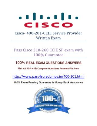 Pass4sure 400-201 Study Guide