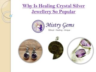 New Stylish Healing Crystal Silver Jewellery
